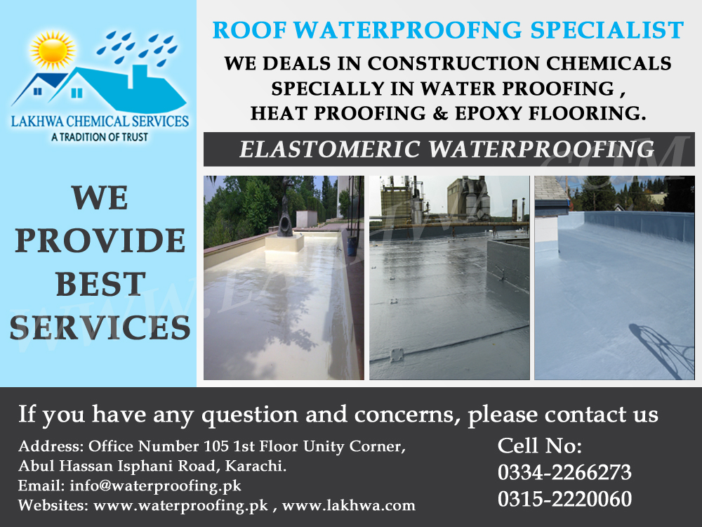 Roof Waterproofing In Karachi Lakhwa Chemical Services