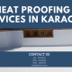 Heat Proofing Services in Karachi | heat proofing services in Pakistan | lakhwa chemical services | lcs waterproofing solutions