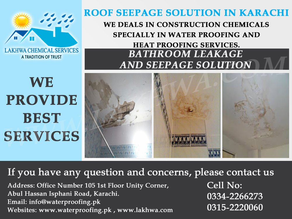Wall Seepage Treatment in Pakistan | seepage and leakage treatment in pakistan | lakhwa chemical services