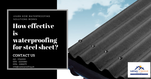 Steel Sheet waterproofing in Karachi | roof waterproofing company in Karachi | lakhwa chemical Services