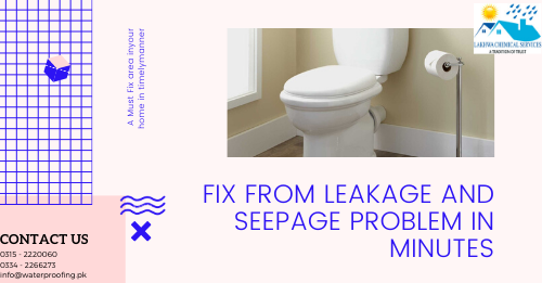 leakage and seepage solution in karachi | waterproofing company in karachi | lakhwa chemical services