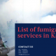 List of fumigation services in Karachi | best fumigation services in karachi | fumigation price in karachi | fumigation services in karachi gulistan-e-jauhar | fumigation services in clifton karachi | lcs waterproofing solutions